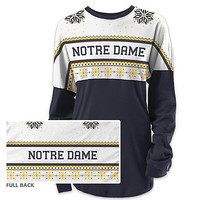 University of Notre Dame Women's Long Sleeve Ugly Sweater Ra Ra Shirt | University Of Notre Dame