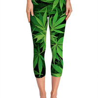 Weed 420 Marijuana Yoga Pants