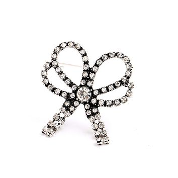 Sparkly Bow Brooch