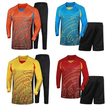Brand Men's Soccer Goalkeeper Jersey Football Sets 2018/19 Goal Keeper Uniforms Suit Training Pants Doorkeepers Shirt Short Kit