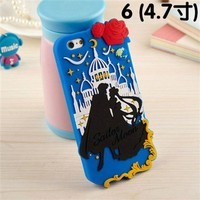 """T-Skin iphone 6 4.7"""" Soldiers Bowknot Cute Cartoon Silicone Case Cover for Apple Iphone 6 4.7"""" Released on 2014 + 1pcs Wristband (Moon Palace)"""