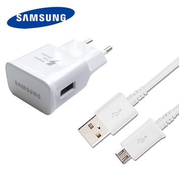 Original Samsung Fast Charger + 1.5M USB Data Cable For Samsung Galaxy Note 4 No