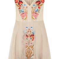 Temperley London - Toledo embroidered silk-blend dress