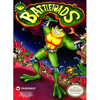 Retro Battletoads Game Poster//NES Game Poster//Video Game Poster//Vintage Game Cover Reprint