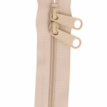Handbag Zipper 30 inches Natural Double Slide