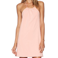 Donna Mizani Halter Mini Dress in Peach
