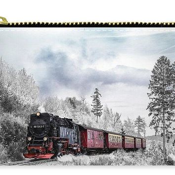 Train In Winter - Carry-All Pouch