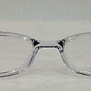 NEW AUTHENTIC SILHOUETTE SPX 1997 COL 6070 CLEAR W/BLACK PLASTIC EYEGLASSES