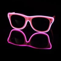EL Wire Light Up Pink Sunglasses : LED Wire Glasses from RaveReady