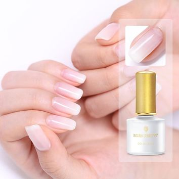 BORN PRETTY Opal Jelly Nail Gel 6ml Semi-transparent White UV Gel Polish Soak Off UV Gel Varnish Lacquer Base Coat Top Coat