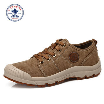 outdoor hiking shoes sneakers sportive trekking boots sports camping men canvas rubber
