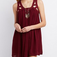 Caged Yoke Shift Dress
