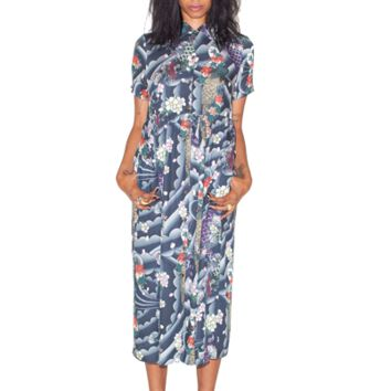 DR MARTENS WOMEN'S HAWAIIAN LONG LINE DRESS