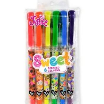 6 Pack Critter Scented Gel Pens | Girls Journals & Writing Girl Stuff | Shop Justice