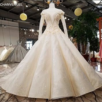LS09811 bridal gown v-neck lace fashion applique flower pattern beaded elegant cap sleeve maxi wedding dress 2018 from china