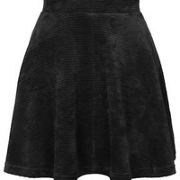 Cord Flippy Skirt - Black