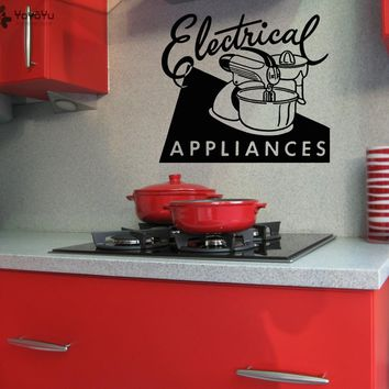 Kitchen Wall Decal Quotes Electrical Appliances Vinyl Wall Stickers Gifts Adesivo De Parede Home Decoration Accessories DIYSY161