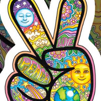 Dan Morris - Peace Fingers - Sticker / Decal