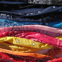 Bandana Wire Tie Headband Bandanna Head Wrap Rock Fashion Headband Wire Headband