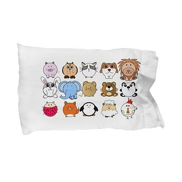 Adorable Pillowcase with Cute Animal Design for Kids, Gifts for Toddlers