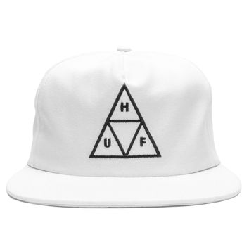 HUF - Triple Triangle Snapback Cap (White)