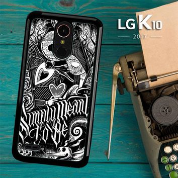 Jack And Sally Muertitos The Nightmare Before Christmas F0874 LG K10 2017 / LG K20 Plus / LG Harmony Case