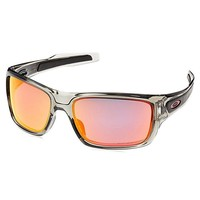 Oakley Turbine Sunglasses Grey Ink Frame Polarized Ruby Iridium Lens OO9263-10