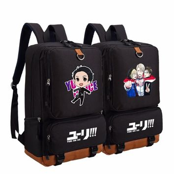 Anime YURI!!! on ICE backpack fashion casual backpack teenagers Men women's Student School Bags travel Shoulder Bag Laptop Bags