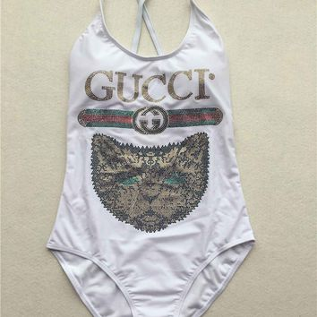 GUCCI Mystic cat one-piece  swimsuit