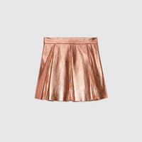 Gucci Children's metallic leather skirt