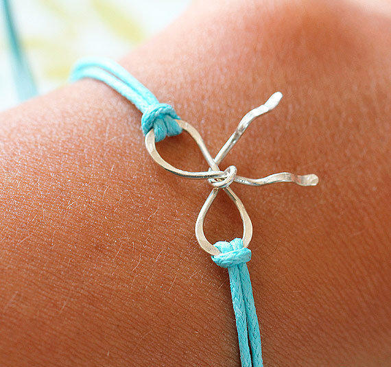 Sterling Silver ForgetMeKnot Personalized Charm by lilmisskaties