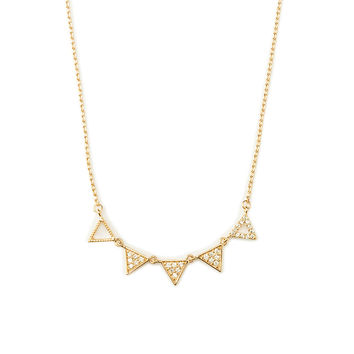 Tidy Triangle Necklace