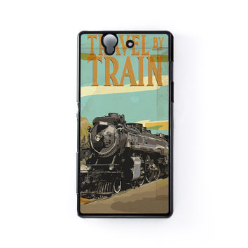 Travel By Train Black Hard Plastic Case for Sony Xperia Z by Nick Greenaway