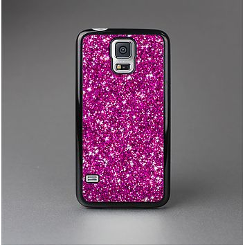 The Bright Pink Glitter Skin-Sert Case for the Samsung Galaxy S5