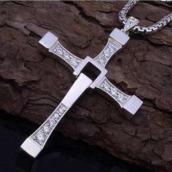 Fast and Furious Cross Pendant Necklace