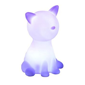 Cute Cat-Shape Color Changing LED Lamp Decoration Night Light for Children's Bedroom ,Home Decorate