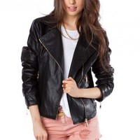 Boyfriend Leather Jacket - ShopSosie.com