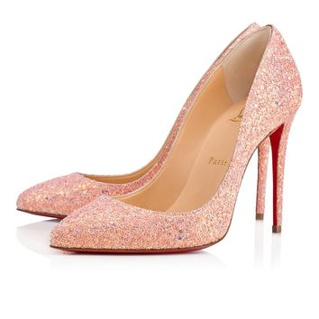 Pigalle Follies 100 Pompadour Glitter Dragonfly - Women Shoes - Christian Louboutin