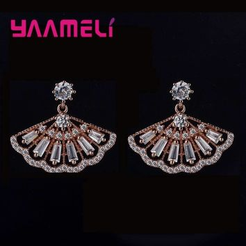 YAAMELI Queen Temperament 925 Sterling Silver Female Fashion Jewelry Hollow Flower   Retro Earrings for Women Lover Gifts