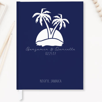 Wedding Guest Book, Nautical Wedding Guestbook, Hard Cover