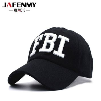 Trendy Winter Jacket High quality FBI summer Baseball Hats Black Cap male for Women Men sun Hat Snapback caps female dad hat casquette gorras AT_92_12