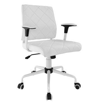 Lattice Faux Leather Office Chair