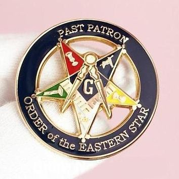 PAST PATRON ORDER OF THE EASTERN STAR OES Masonic Lapel Pin