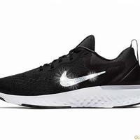 Women's Nike Odyssey React  + Crystals - Black and White