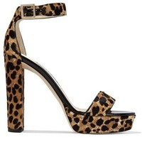 Holly leopard-print calf hair platform sandals   JIMMY CHOO   Sale up to 70% off   THE OUTNET