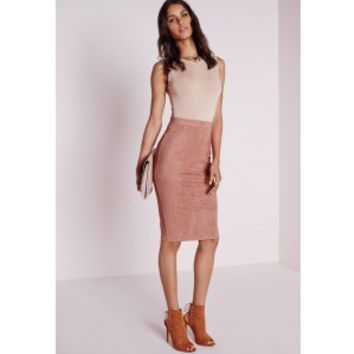 Berryana Faux Suede Midi skirt Mauve - Faux - Suede - Midi - Skirt - Missguided