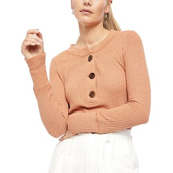 Free People - Oliver Henley Top in Terracotta
