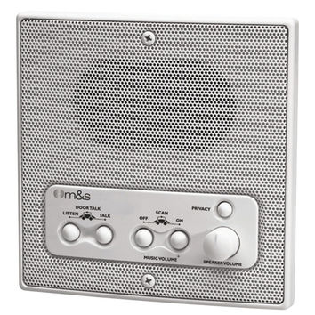 M&s Systems Weather-resistant Remote Station Speaker (white)