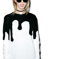 Evil Twin Melting Point Sweater Black/White