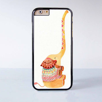 "Cute Elephant plastic phone case for iPhone 6 (4.7"")  More case style can be selected"